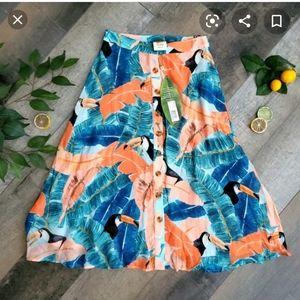 Farm Rio Toucan plantage rio Skirt Size L